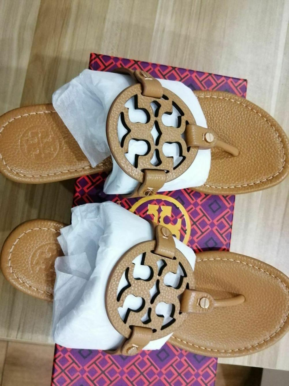 tory burch miller sandals tan lichee leather