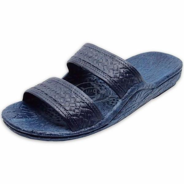Pali Hawaii Unisex Hawaiian Jesus Jandal Navy Slip On Slide