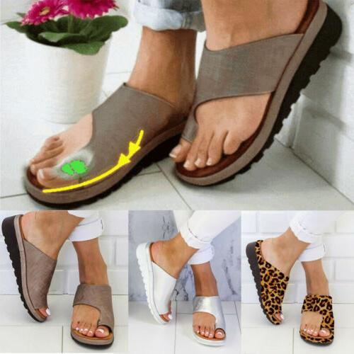 US STOCK Women Comfy  Sandals Shoes - PU LEATHER - Bunion Co