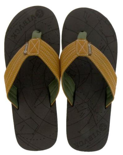 Kaiback Men's Comfort Flip Beach Sandal Cushion