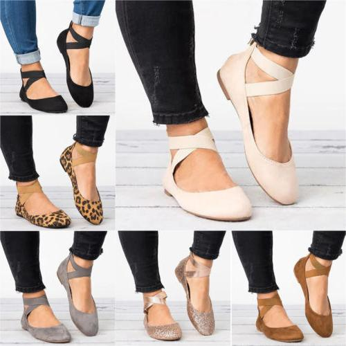 Women Ballet Dance Shoes Ankle On Shoes