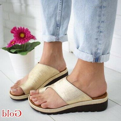 US STOCK Women Comfy Sandal Shoes LEATHER- Corrector