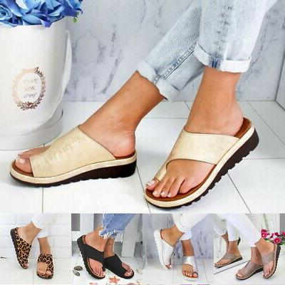 US STOCK Women Comfy Sandal LEATHER-