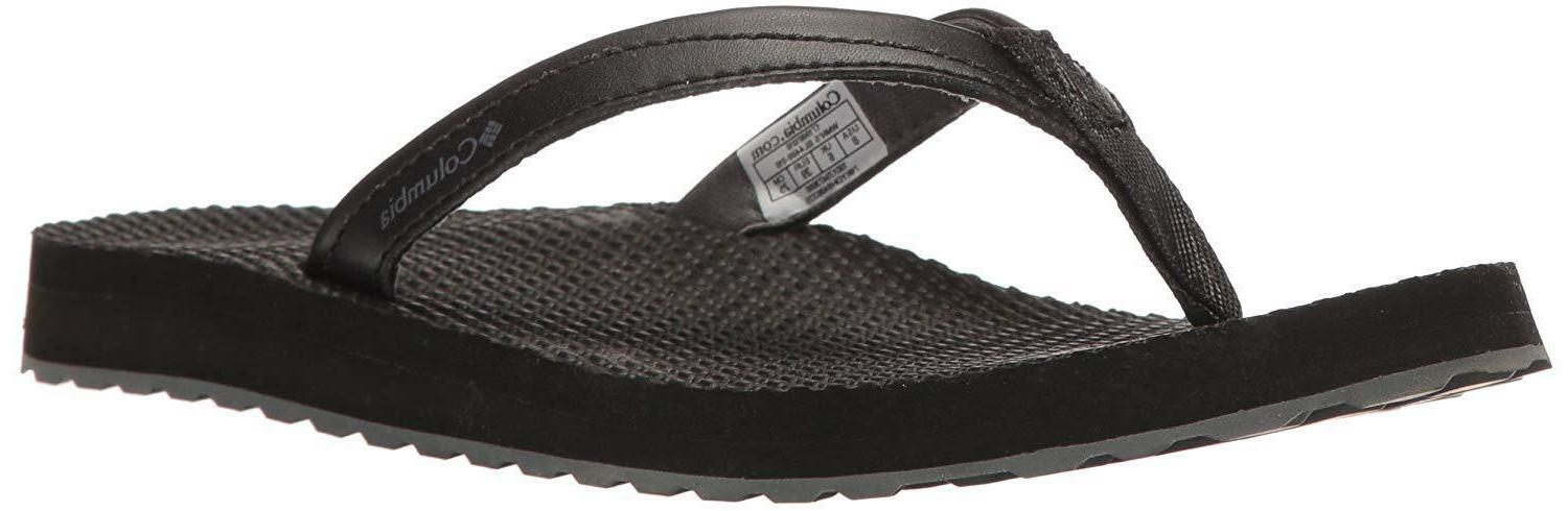 Columbia Women's 12 M Sorrento Flip Athletic Sandal Black/Gr