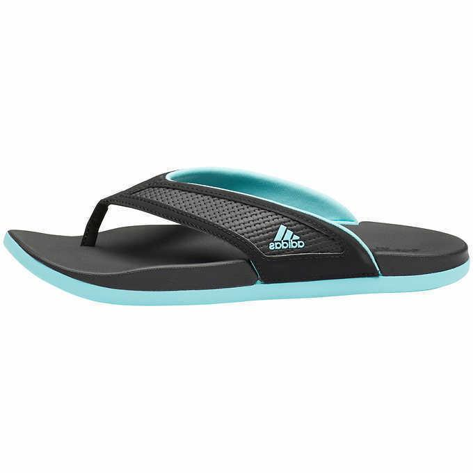 Adidas Women's Summer Thong Sandals Flip Flops Black, Size