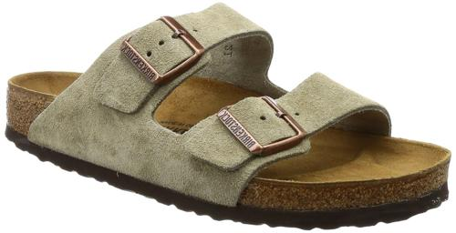 women s arizona 2 strap suede leather
