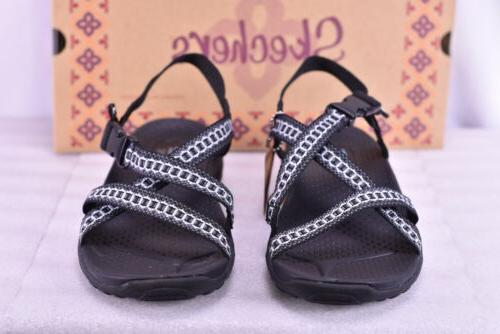 Women's Skechers Sandals Black/Gray