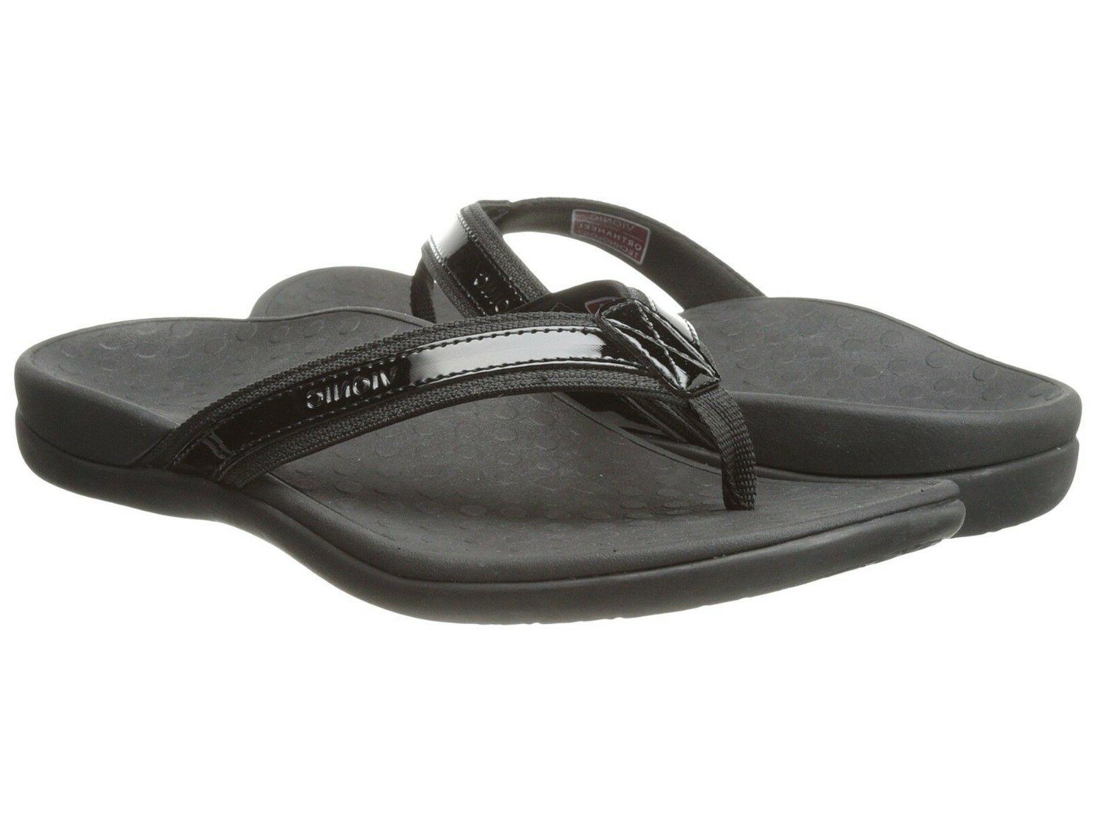 Women's Vionic Tide II Flip Flop Sandals Black US Sizes
