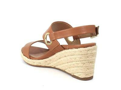 Vionic Women's Leather Ankle-Strap Wedged Sandals Tan