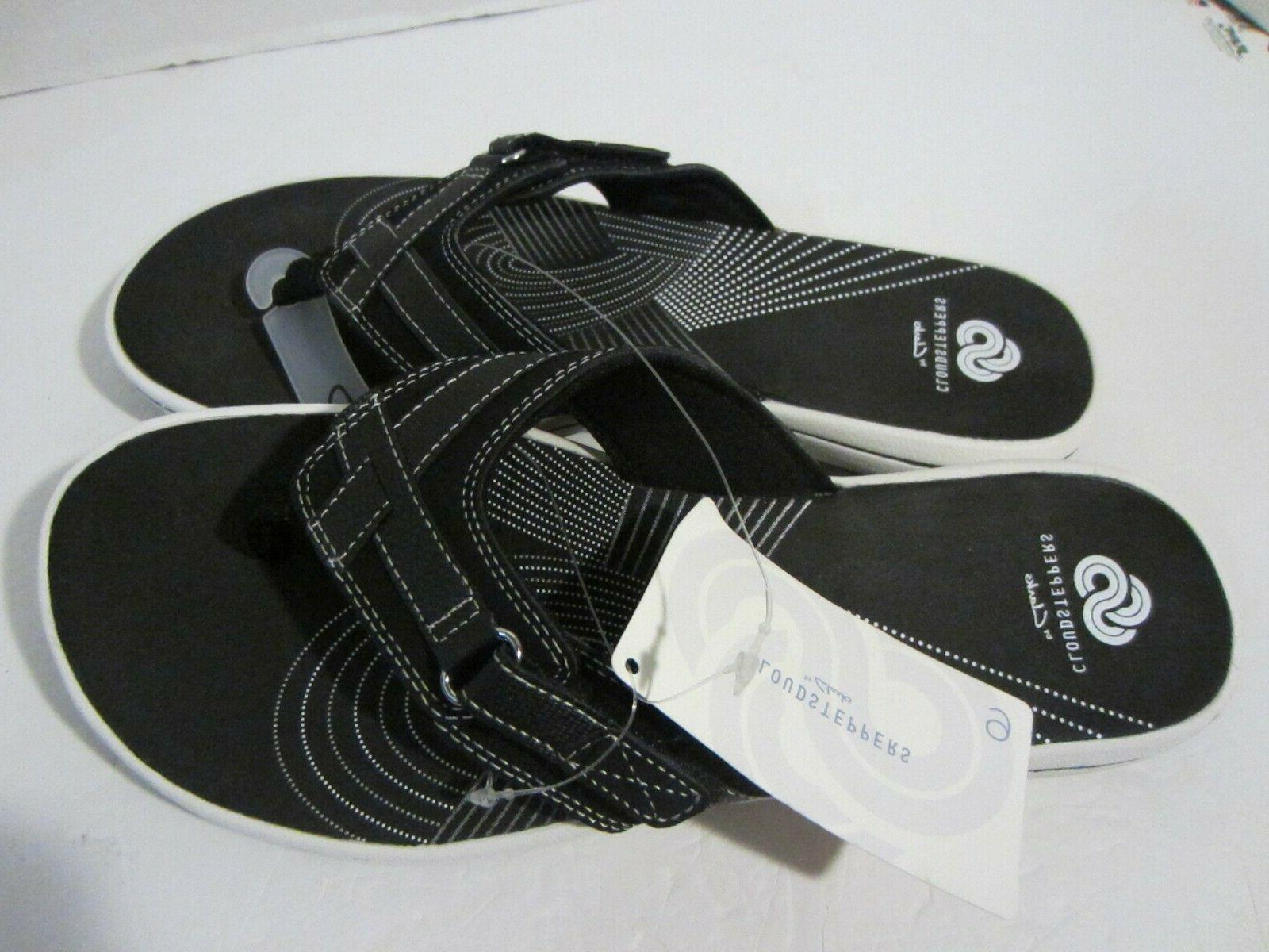 womens breeze sea flip flops black comfort