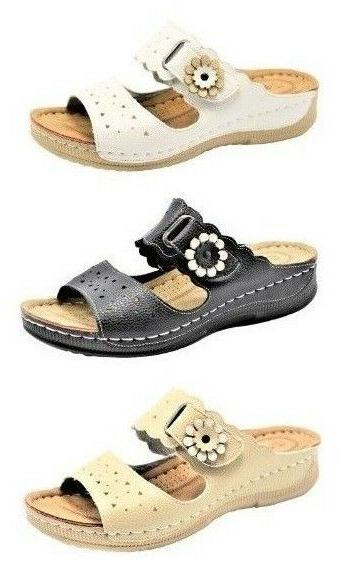 womens comfort casual shoes flip flops open