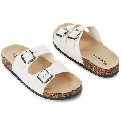 Alpine Swiss Womens Double Strap Slide Sandals Sole