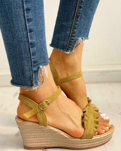 Womens Wedge Ankle Summer Party