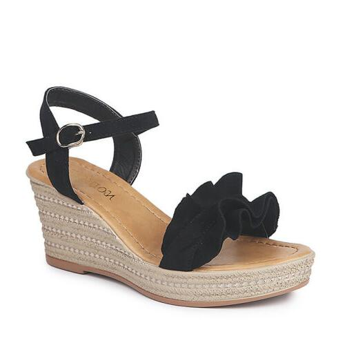 Womens Espadrilles Wedge Summer Party