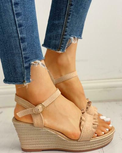 Womens Wedge Ankle Strap Summer