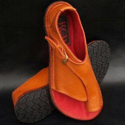 Womens Ladies Summer Strap Boho Shoes Size