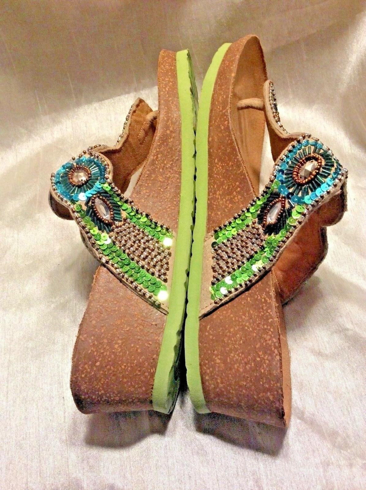 Women's Sandals Beautiful W/Medallions Style New!
