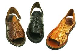 Ladies Genuine Authentic Soft Leather Mexican Sandal Style P