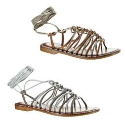 Vince Camuto Layla Women's Leather Strappy Braided Trendy Gl