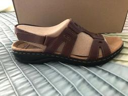 Clarks Leisa Annual Sandals Brown Leather Womens, Low Heel,