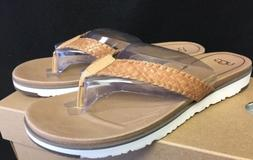 UGG Australia Lorrie Woven Leather Sandals 1016176 Natural F