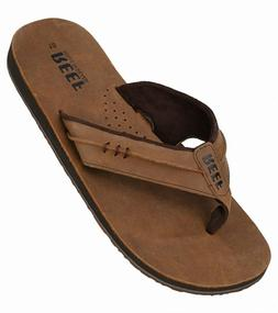 Reef Marbea Sandals New Men's Brown Leather Thong Flip-Flops