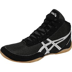 ASICS Men's Matflex 5-M, Black/Silver, 6.5 M US