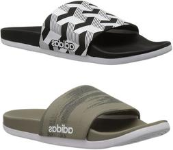 adidas Men's Adilette Cloudfoam Plus Link Slide Sandals, 2 C