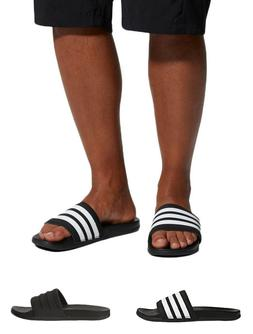 Adidas Men's Adilette CloudFoam Plus-Mono Slides 3-Stripe Co