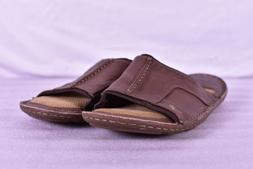 Men's Margaritaville All Leather Slide Sandals, Dark Brown