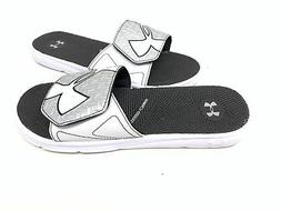 Under Armour Men's Micro G Slide Sandals White/Silver Size:7