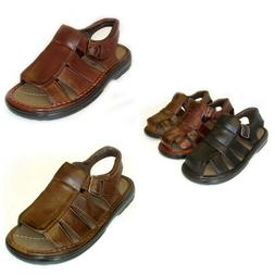 Men's New Leather Strap Comfortable Sandals Fisherman. Free