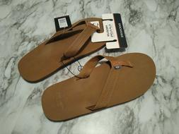 Dockers Men's Sandals Tan / Blue Flip Flops Size XL 11-12 NE