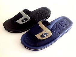MEN'S SLIP ON SPORT SLIDE SANDALS ADJUSTABLE FLIP FLOPS SLIP