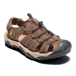 Men's Summer Hiking Leather Sandals Wading Closed Toe Fisher
