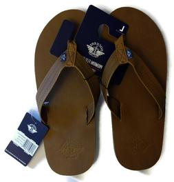 Dockers mens brown blue tan premium comfort flip flops summe