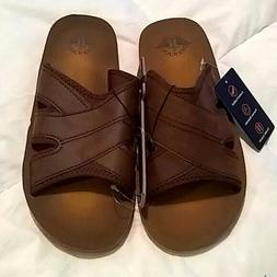 Dockers Men's Brown Slide Sandals NWT SIZE Large 9.5-10.5