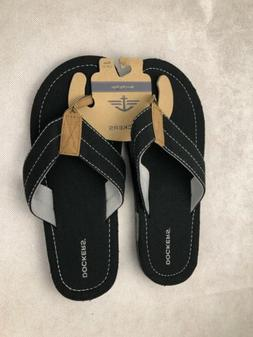 Mens Dockers Flip Flop Sandals Size L 10-11 Black