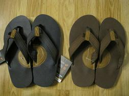 Dockers Mens Premium Flip Flops Sandals Size M  - Navy or Br