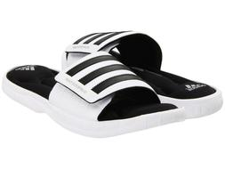 Mens Adidas Superstar 3G White Slides Athletic Sport Sandals
