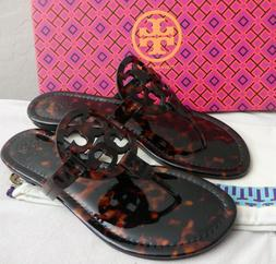 Tory Burch MILLER Tortoise Shell Soft Printed Patent Leather