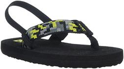 Teva Boys' MUSH II Sandal, Digital Camo Black/Lime, 12 M US