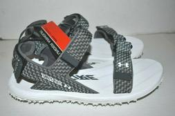 New UNDER ARMOUR  Fat Tire Sandals White/Gray Men's Size 9