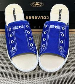 NEW Converse All Star Cut Away Slides, BLUE Mule Slip On San
