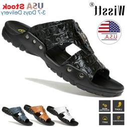 New Beach Mens Massage Casual Leather Sandals Shoes Outdoor