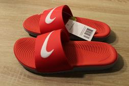 NEW Boy's Nike Kawa Slide Sandals in University Red/White