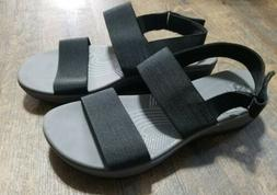 NEW! Cloudsteppers By Clarks Womens Ankle Strap Wedge Sandal