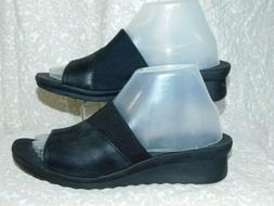 NEW! CLOUDSTEPPERS CLARKS CADDELL BLACK SANDALS SZ 8 W