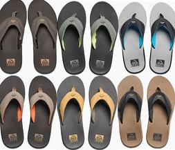 NEW REEF FANNING FLIP FLOP SANDAL MENS 8-14 ALL COLORS BOTTL