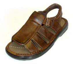 NEW FASHION MENS LEATHER STRAP FISHERMAN COMFORT SANDALS Ope